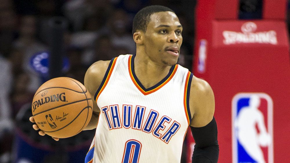 Russell Westbrook starred for Oklahoma City Thunder. (AAP)