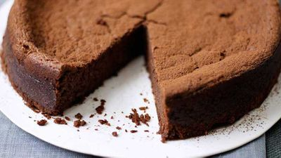 """Recipe: <a href=""""http://kitchen.nine.com.au/2017/04/18/17/11/chocolate-and-chestnut-cake"""" target=""""_top"""">Chocolate and chestnut cake</a>"""