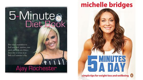 Books with similar titles released by Ajay Rochester and Michelle Bridges. (supplied)