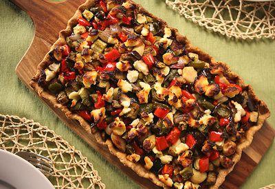 Mediterranean vegetable pie