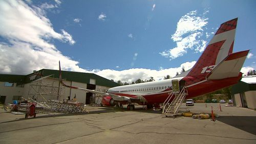 The aircraft would typically fly over blazes around 130 knots. (9NEWS)