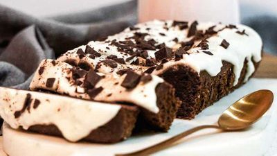 """Recipe: <a href=""""http://kitchen.nine.com.au/2017/08/08/15/03/one-bowl-gluten-free-chocolate-cake-with-coconut-vanilla-icing"""" target=""""_top"""" draggable=""""false"""">One-bowl gluten-free dairy-free choc cake</a>"""