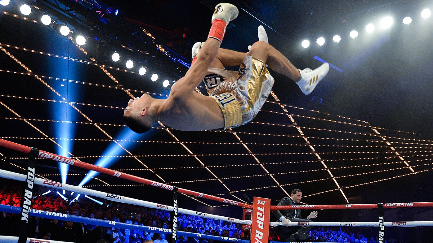 Teofimo Lopez does backflip after vicious 44-second knockout victory