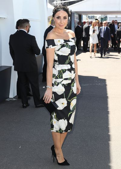 <p>5) Say it with flowers</p> <p>Terry Biviano in Dolce &amp; Gabbana and Viktoria Novak headpiece.</p>