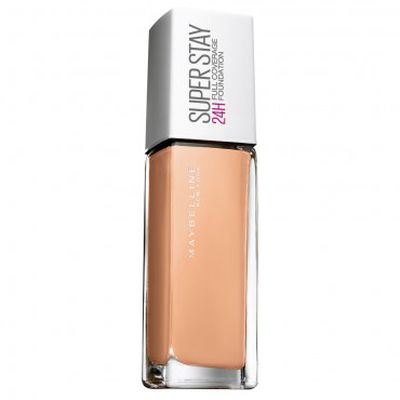 """<p><strong><a href="""" https://www.priceline.com.au/maybelline-superstay-24hr-full-coverage-foundation-30-ml?gclid=EAIaIQobChMI54K2trb52QIVBCUrCh06IAKZEAkYASABEgIWN_D_BwE&amp;gclsrc=aw.ds"""" target=""""_blank"""" draggable=""""false"""">MAYBELLINE&nbsp;Superstay 24HR Full Coverage Foundation</a></strong>, $24.99</p> <p>""""I love Maybelline Superstay Full Coverage. It won't come off your face!""""</p>"""