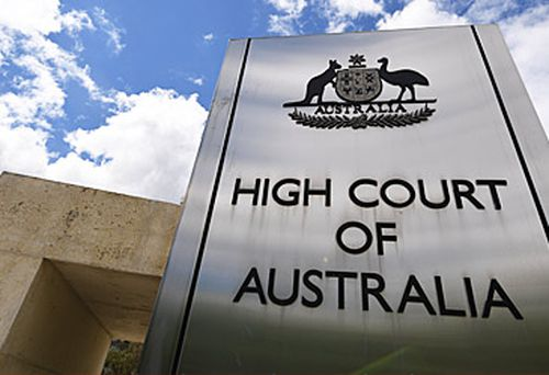 High Court of Australia sign (AAP)