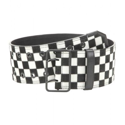 "<a href=""http://www.mytheresa.com/en-au/check-leather-belt.html?catref=category"" target=""_blank"">Belt, $1135, Haider Ackermann at mytheresa.com</a>"
