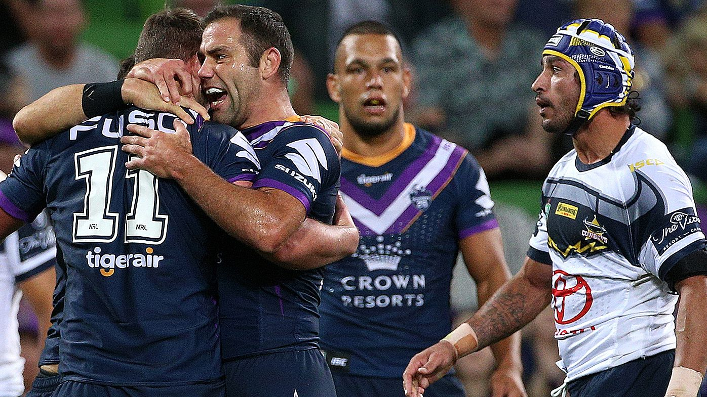 Storm celebrate after beating Cowboys