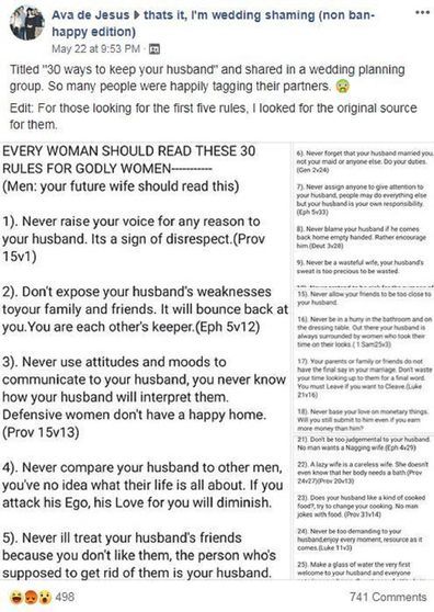 This '30 ways to keep a man' rule book is a reminder of how