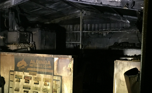 Police investigating arson at Adelaide netball club