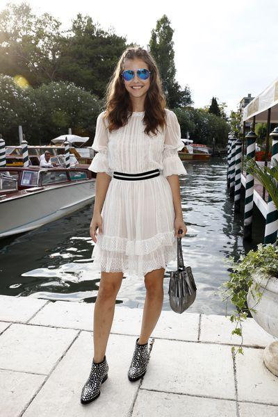 Supermodel Barbara Palvin at the Venice Film Festival.