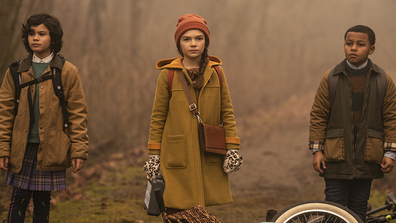 Young Hilde, played by Brooklynn Prince, investigates a new mystery in season two of 'Home Before Dark'.