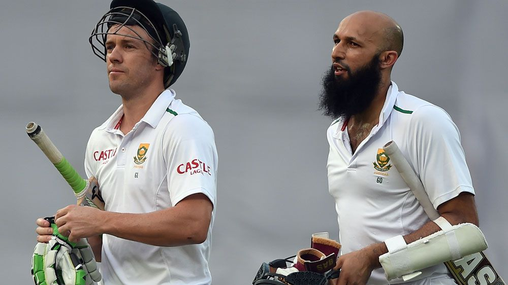AB de Villiers (L) is South Africa'snew captain after Hashim Amla stood down. (AFP)
