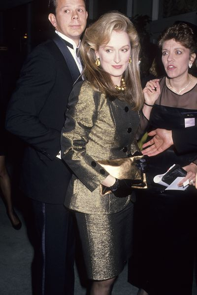 At the 46th Golden Globe Awards in 1989 where she was nominated for <em>Evil Angels</em>, Streep embraced <em>Dynasty </em>glamour.