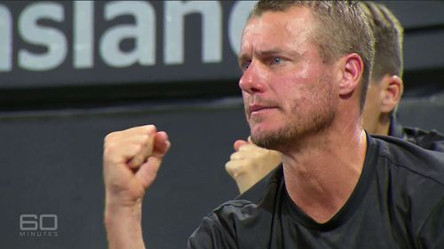 Lleyton Hewitt has vowed to never select Bernard Tomic for the Davis Cup again.