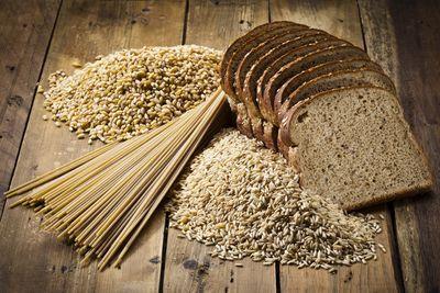 For whole grain pasta, rice and bread (69 calories/slice of bread)