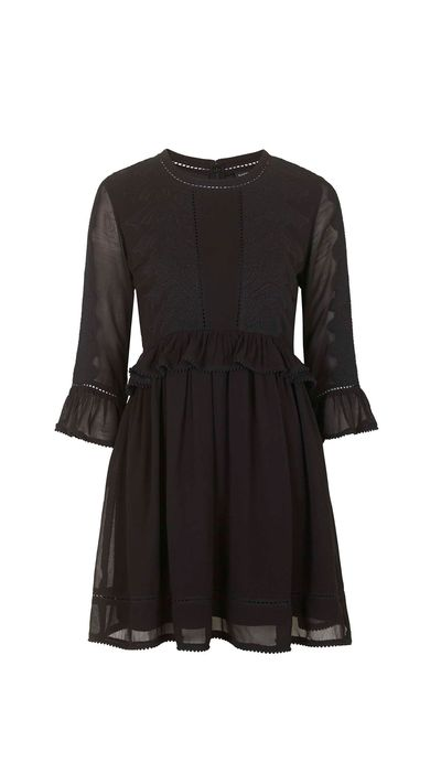 """<a href=""""http://www.topshop.com/en/tsuk/product/clothing-427/dresses-442/embroidered-victoriana-dress-4495644?bi=1&ps=20"""" target=""""_blank"""">Dress, $94.67 approx, Topshop</a>"""
