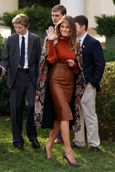 Melania Trump in Stella McCartney, November 2017.
