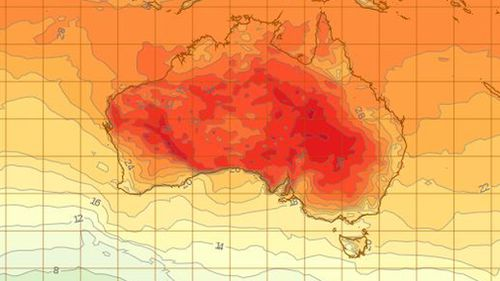 Temperatures will soar across the country over the weekend. (BoM)