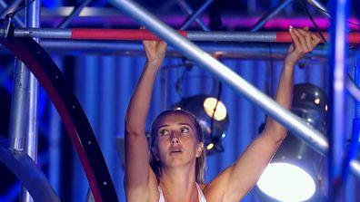 Judith Carroll is the first female Ninja up the Warped Wall in 2021