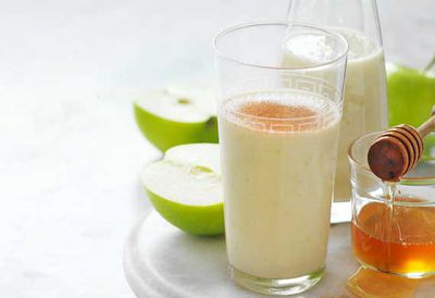 """Recipe: <a href=""""http://kitchen.nine.com.au/2016/05/05/09/51/apple-crumble-smoothie"""" target=""""_top"""">Apple crumble smoothie</a>"""