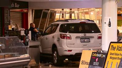 Stolen 4WD crashes into local supermarket