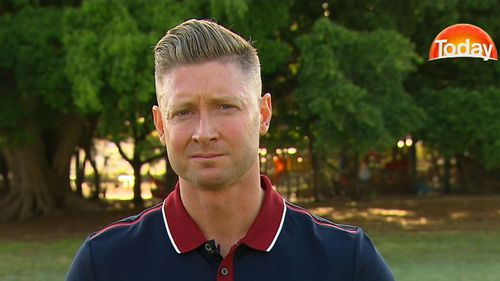 Former Australian captain Michael Clarke says he is concerned about the mental welfare of the three players. (9NEWS)