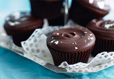 Rich chocolate cupcakes with ganache