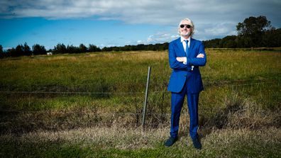 NXS band manager Chris Murphy at the location next to Ballina Airport for the new INXS museum. June 28, 2019