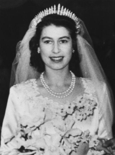Queen Elizabeth II wedding day, November 20, 1947 .