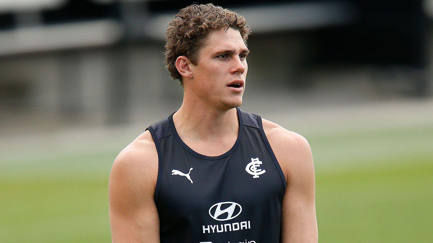 Blues' Curnow on track for 2020 AFL return