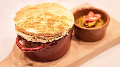 Pork and cider pot pie