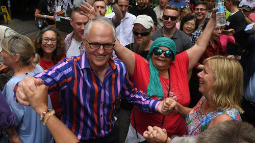 Mr Turnbull got into the festive spirit. (Image: AAP)