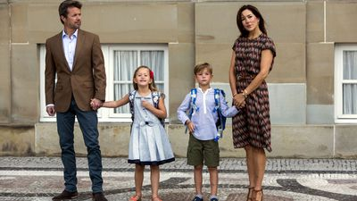 <p>The first day of school is huge for any parent, but Australian-born Princess Mary had the added pressure of addressing the paparazzi on the day she sent her children to school for the first time.</p> <p>Princess Josephine and Prince Vincent were taken toTranegård School in Hellerup, Denmark by their parents Princess Mary and Prince Frederik. The six-year-olds didn't look entirely thrilled to be giving up their freedom, with Vincent in particular looking downcast outside the school. He began to cry at one point, so Mary bent to wipe away his tears. He later offered a tentative smile for the public.</p> <p>The twins join their older siblings Prince Christian and Princess Isabella at the school.</p>
