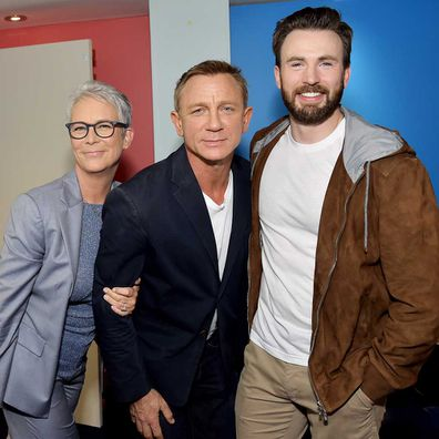 Jamie Lee Curtis, Daniel Craig, and Chris Evans starred together in Knives Out.