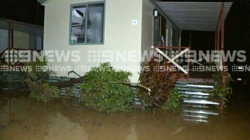 A total of 42 holiday-makers were almost swept away by flood waters overnight. (9NEWS)