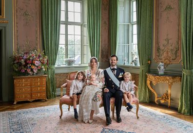 Swedish Royal Palace release photos from Prince Julian's christening