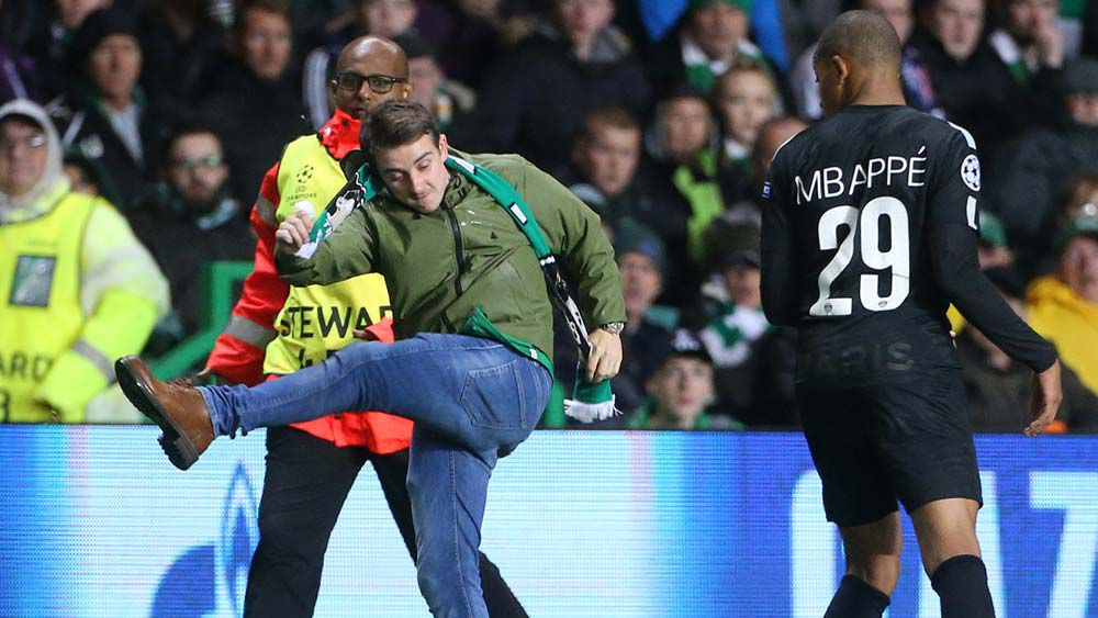 Celtic fan condemned by own club after attempted attack on PSG player