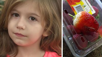 Mum's anguish after five-year-old bit into needle in strawberry