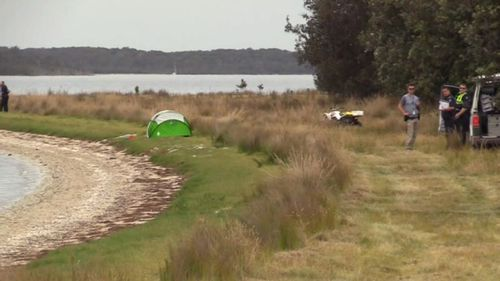 The mother-of-two was pulled from the water by her husband, three hours drive from Melbourne.