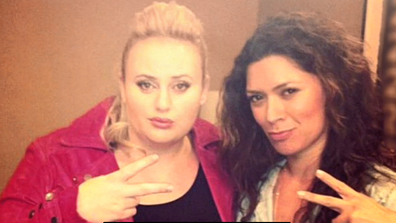Rebel Wilson and her best friend and stylist, Nicole.