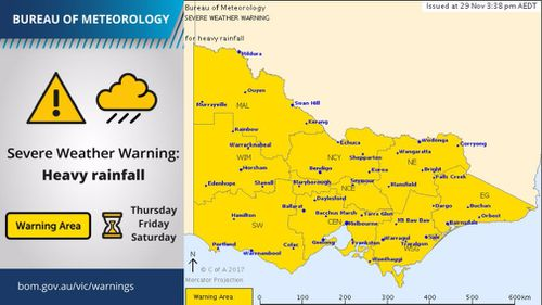 The Bureau's warning applies to all of Victoria. (BOM)
