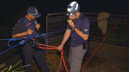 It is believed the woman, possibly a French tourist, was meditating with friends at Blackheath lookout. (9NEWS)