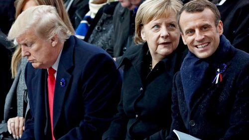 WWI Armistice: World leaders mark centenary in ceremony at Arc de Triomph in Paris