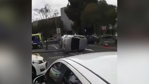 L-plate driver flips car in VicRoads car park