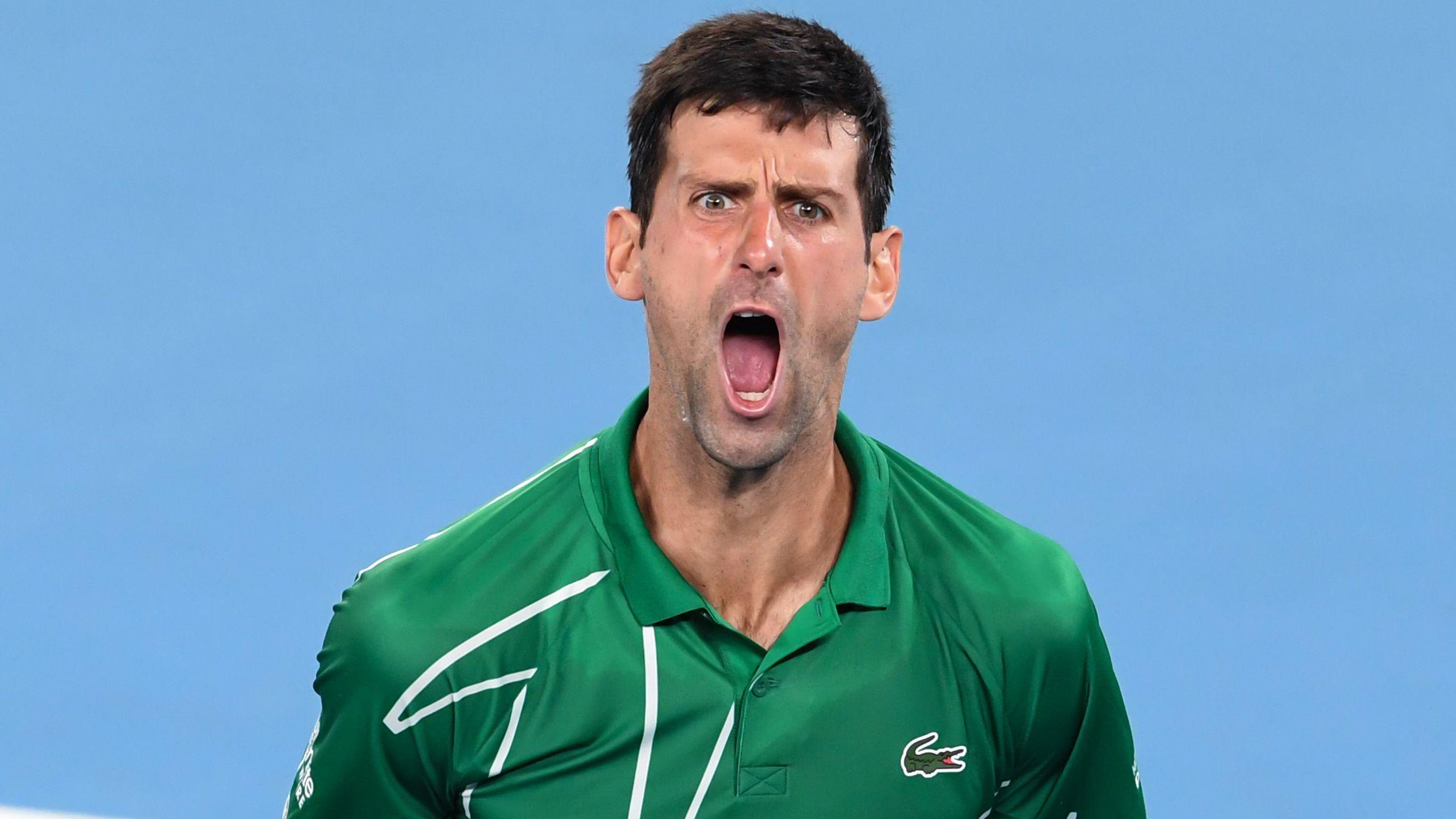 Novak Djokovic Vs Roger Federer Rafael Nadal Grand Slam Title Race