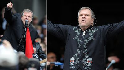 "Meat Loaf's 12-minute medley of his hits at the 2011 Premiership failed to resonate with AFL fans, after the US singer missed a number of high notes. The rock legend later labelled AFL bosses as ""jerks"" for not offering enough time for sound checks. (AAP)"