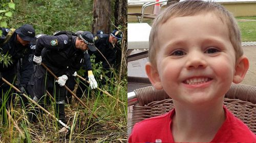 Police search bushland around Kendall on the NSW mid-north coast in 2018 for clues surrounding William's disappearance.