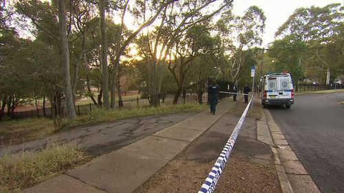 Police tape off around a primary school to investigate the sexual assault incident. Picture: 9NEWS