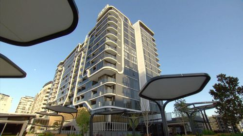 The 19-storey building in Brisbane has a number of facilities.